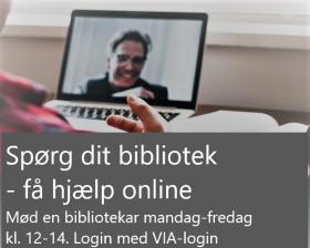 Få hjælp på biblioteket online gennem Zoom - klik her